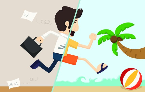 organize your work before going on vacations